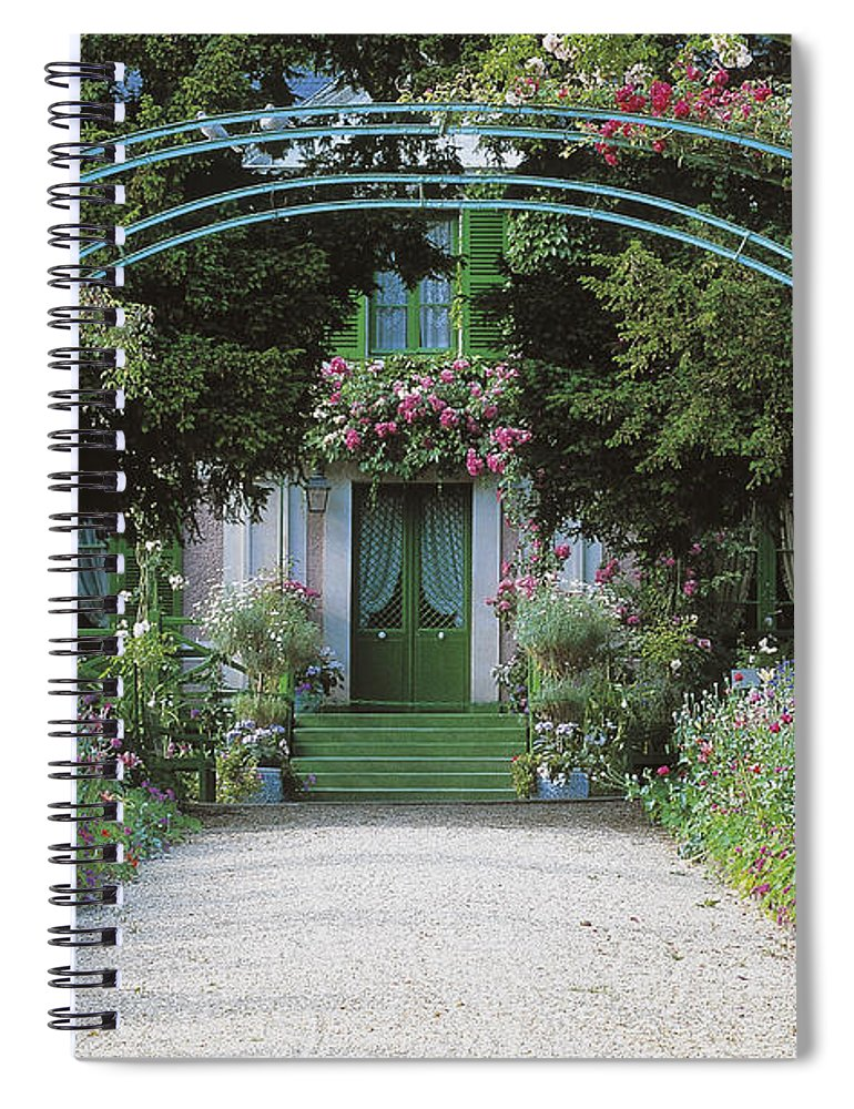 Giverny Spiral Notebook featuring the photograph Claude Monet's Garden At Giverny by French School