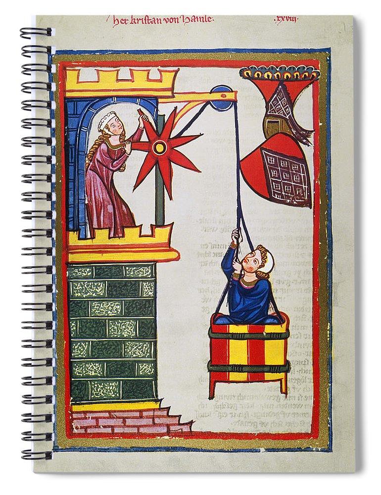 14th Century Spiral Notebook featuring the photograph HEIDELBERG LIEDER, 14th C by Granger