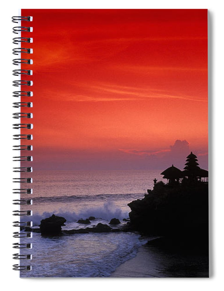 Bali Spiral Notebook featuring the photograph Indonesia, Bali by Gloria & Richard Maschmeyer - Printscapes