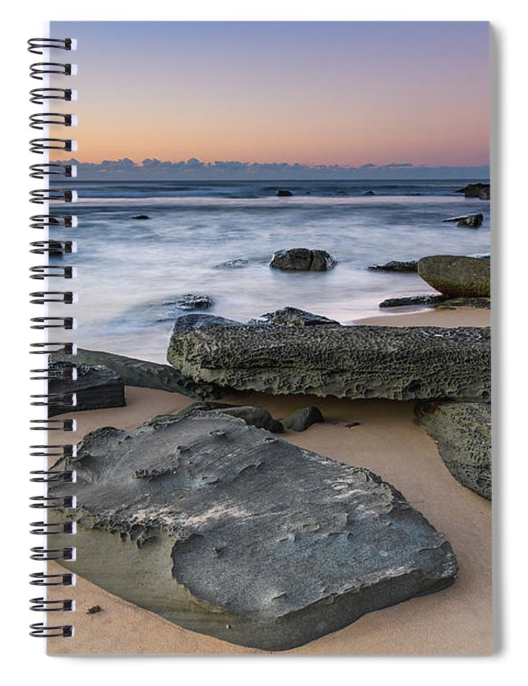 Australia Spiral Notebook featuring the photograph Sunrise And The Sea by Merrillie Redden