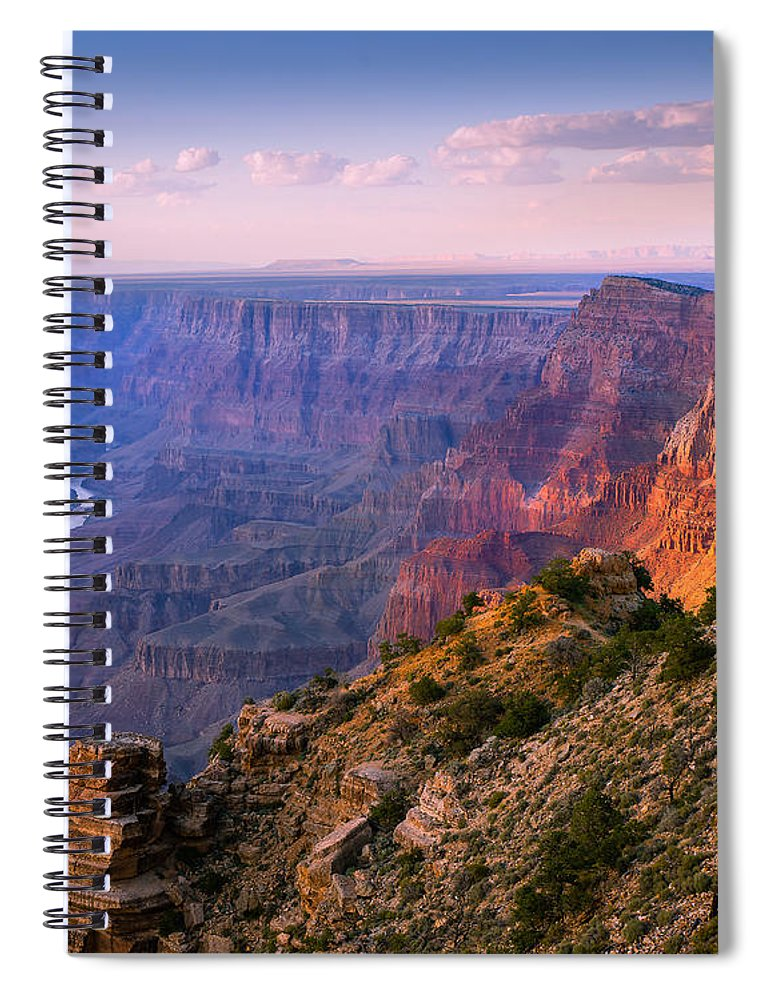 Grand Canyon National Park Spiral Notebook featuring the photograph Canyon Glow by Mikes Nature