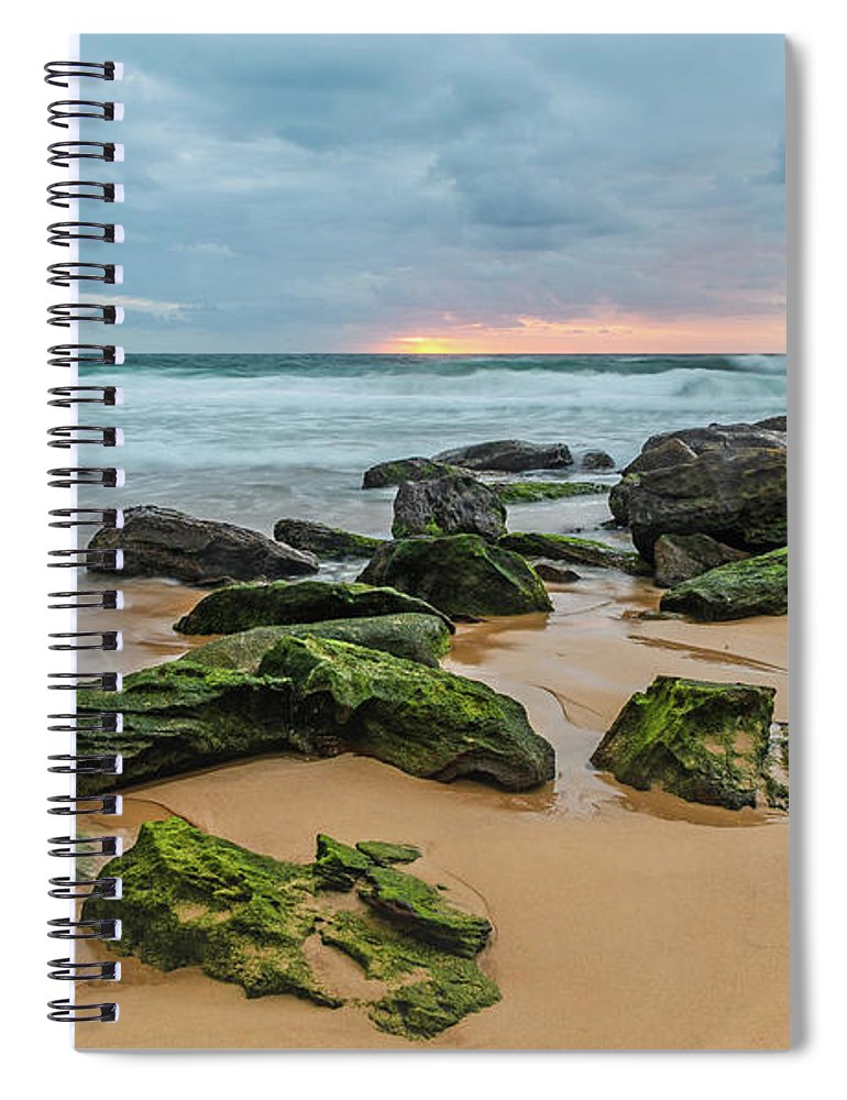 Killcare Spiral Notebook featuring the photograph Dawn Seascape by Merrillie Redden