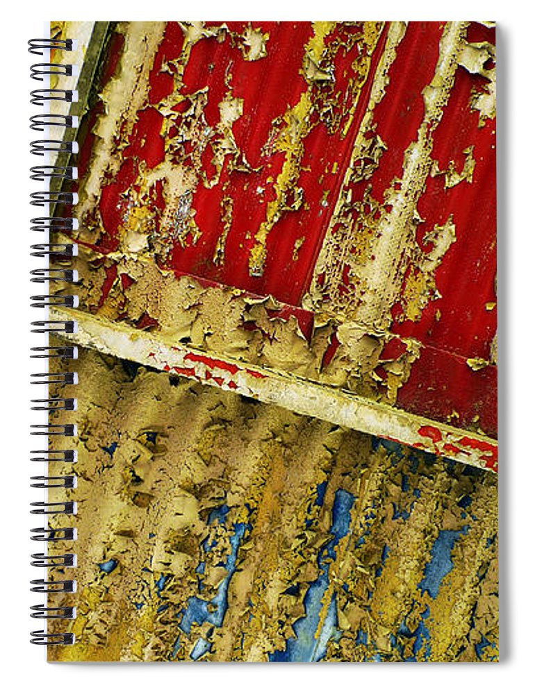 Abstract Spiral Notebook featuring the photograph 377 At 41 Series 6 by Skip Hunt