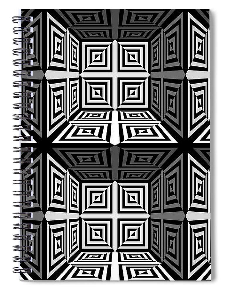 S Spiral Notebook featuring the digital art 3d 253d2 by Mike McGlothlen