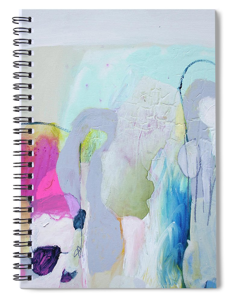 Abstract Spiral Notebook featuring the painting 4 Years Ago by Claire Desjardins