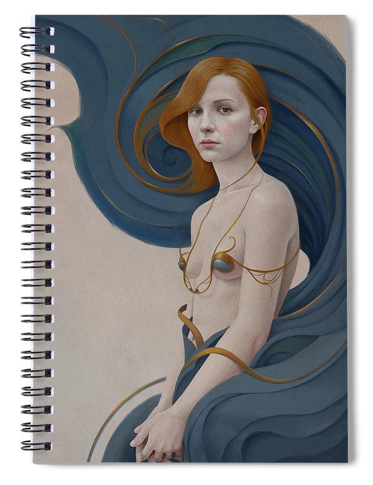 Woman Spiral Notebook featuring the digital art 459 by Diego Fernandez