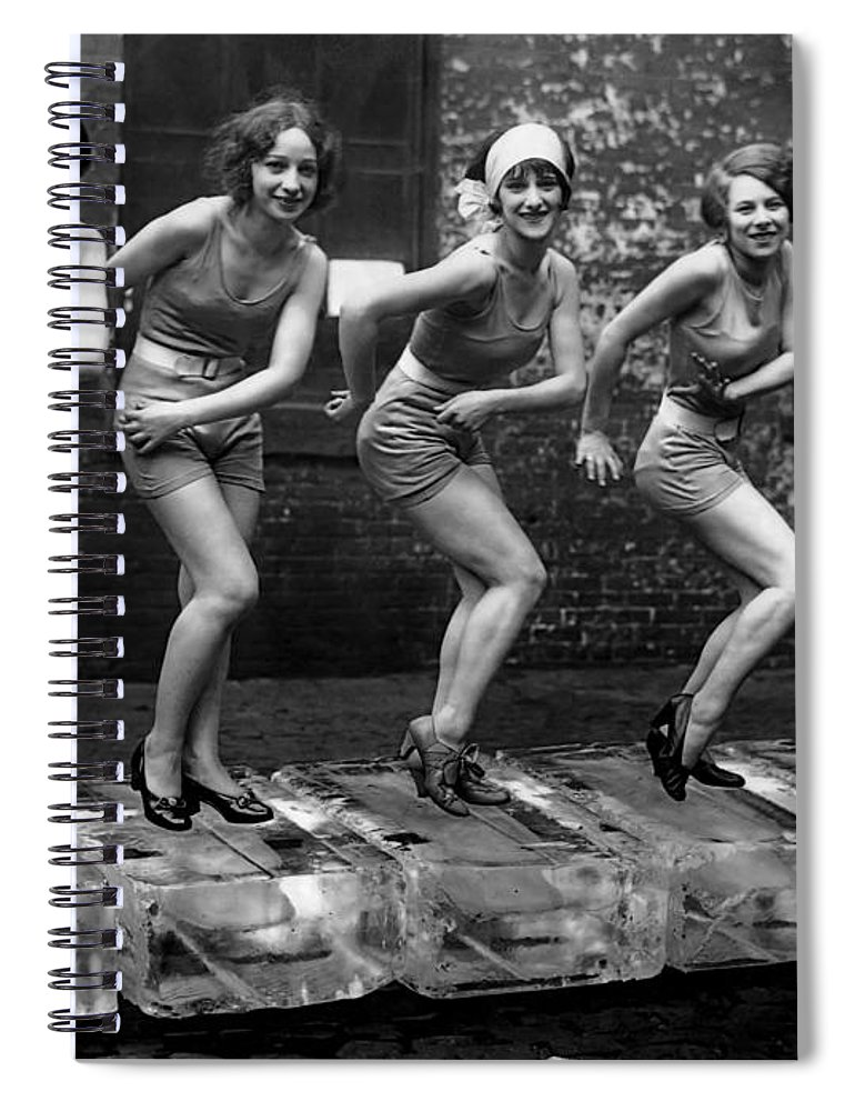 5 flappers on ice roaring twenties spiral notebook for sale by