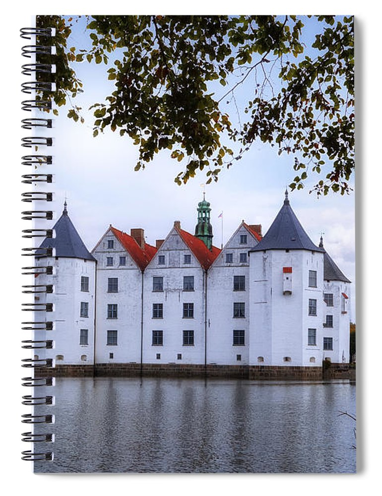 Gluecksburg Castle Spiral Notebook featuring the photograph Gluecksburg Castle - Germany by Joana Kruse