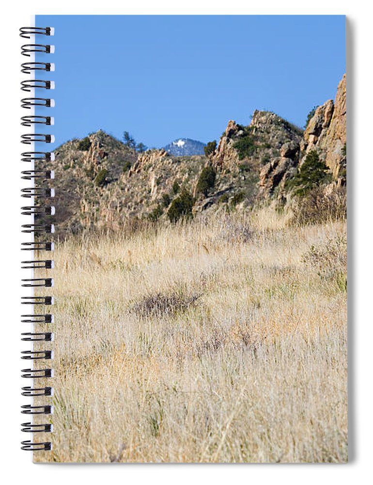 Red Rock Spiral Notebook featuring the photograph Red Rock Canyon Open Space Park by Steve Krull