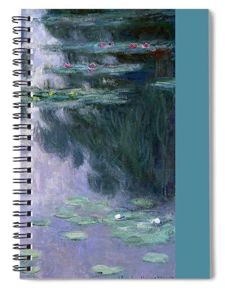 Nympheas Spiral Notebook featuring the painting Waterlilies by Claude Monet