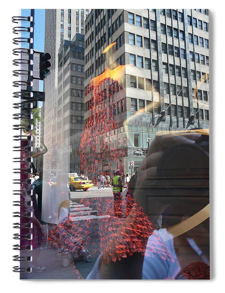 New York Spiral Notebook featuring the photograph 5th Avenue by Valerie Ornstein
