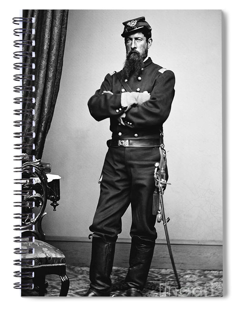 1862 Spiral Notebook featuring the photograph Civil War: Union Soldier by Granger