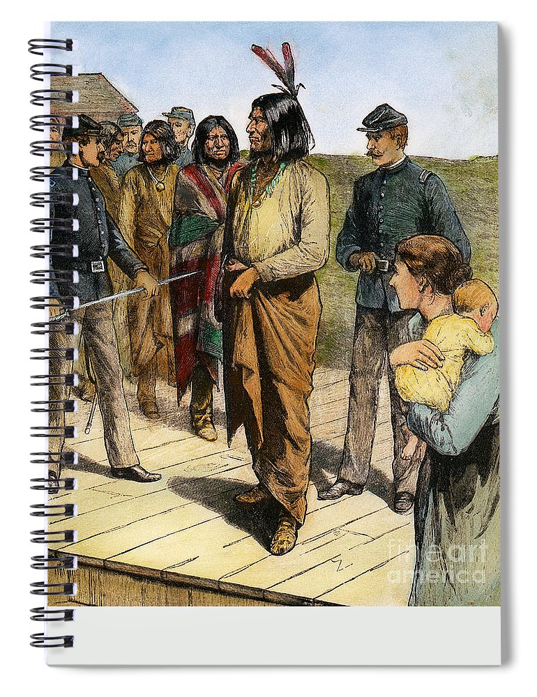 1907 Spiral Notebook featuring the photograph Geronimo 1829-1909. by Granger