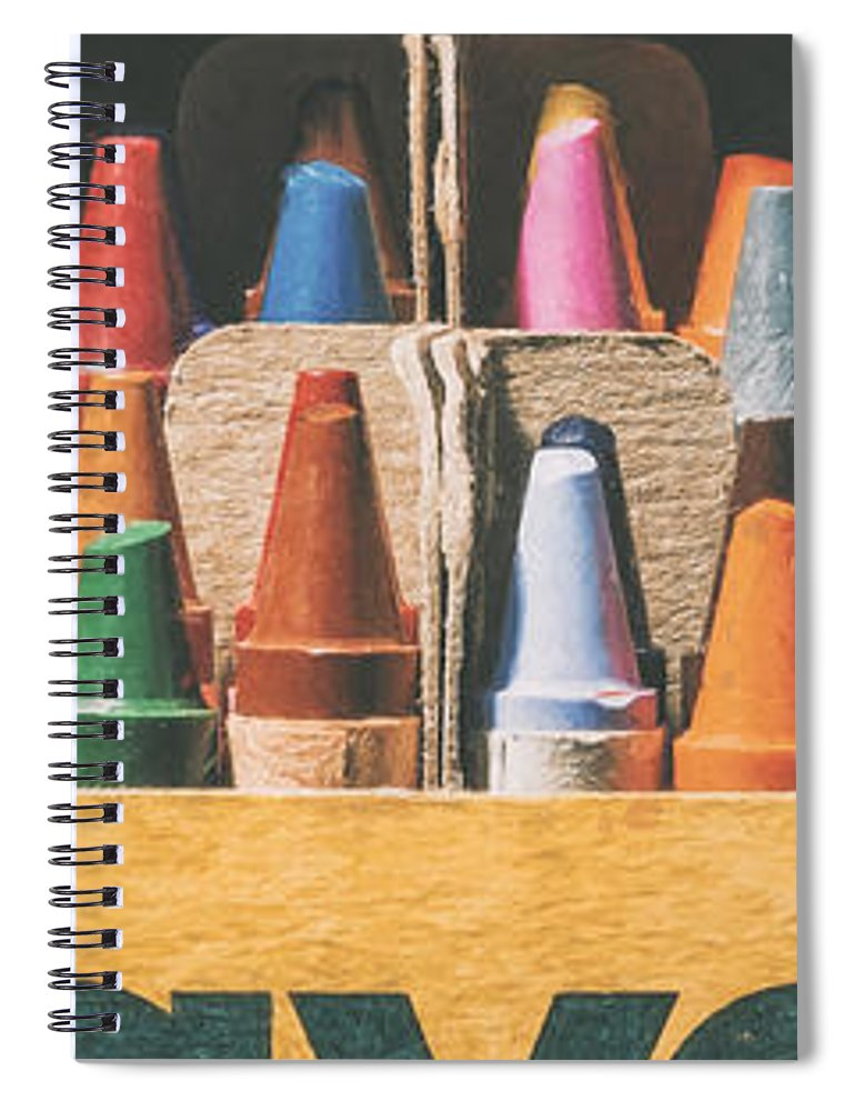 Scott Norris Photography Spiral Notebook featuring the photograph 64 Colors by Scott Norris