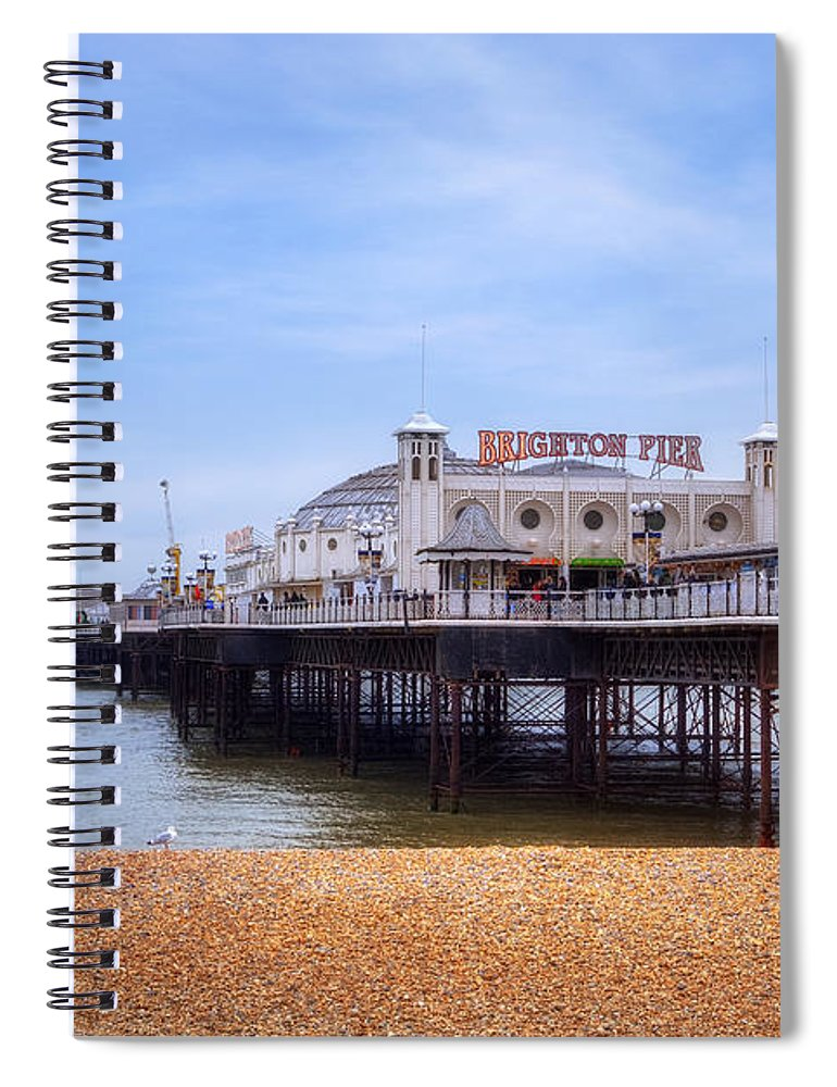 Brighton Pier Spiral Notebook featuring the photograph Brighton Pier by Joana Kruse