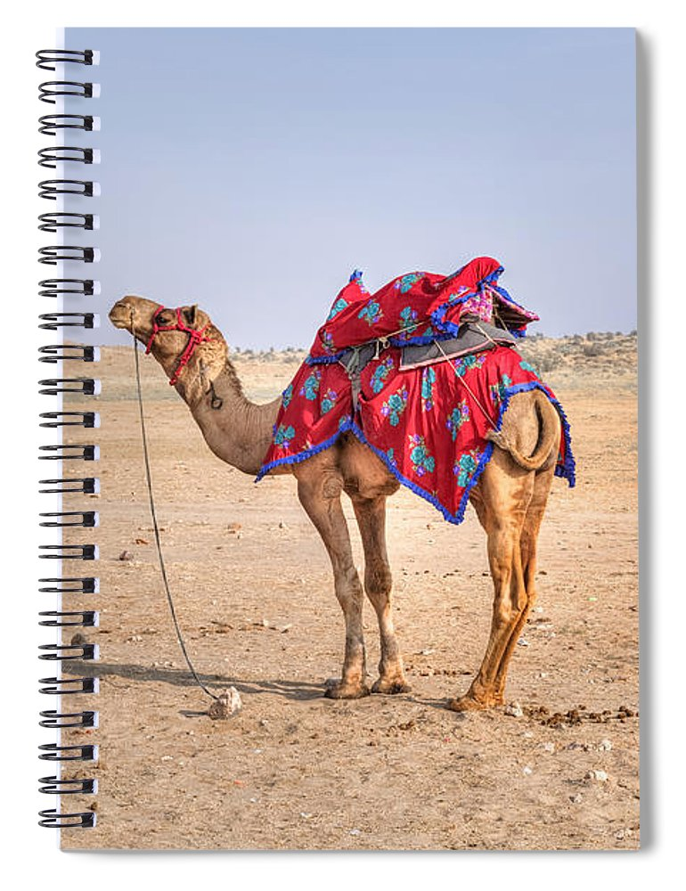 Thar Desert Spiral Notebook featuring the photograph Thar Desert - India by Joana Kruse