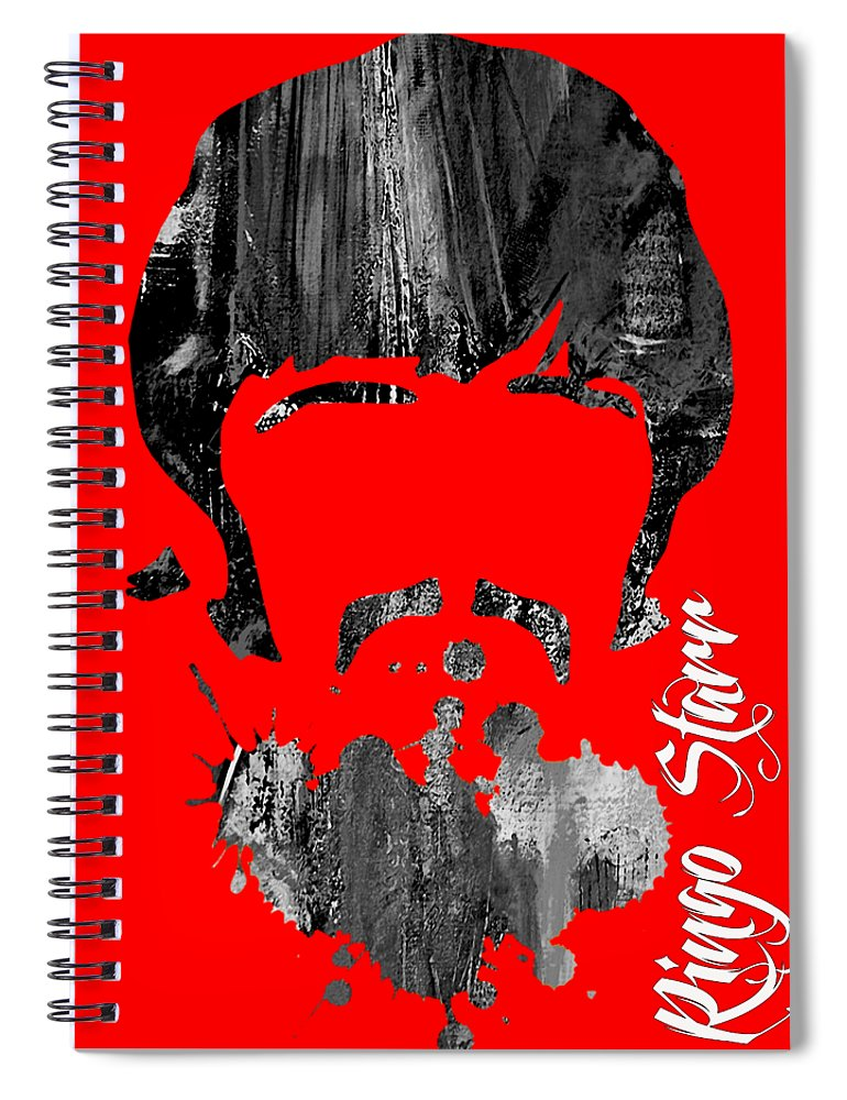 Ringo Starr Spiral Notebook featuring the mixed media Ringo Starr Collection by Marvin Blaine