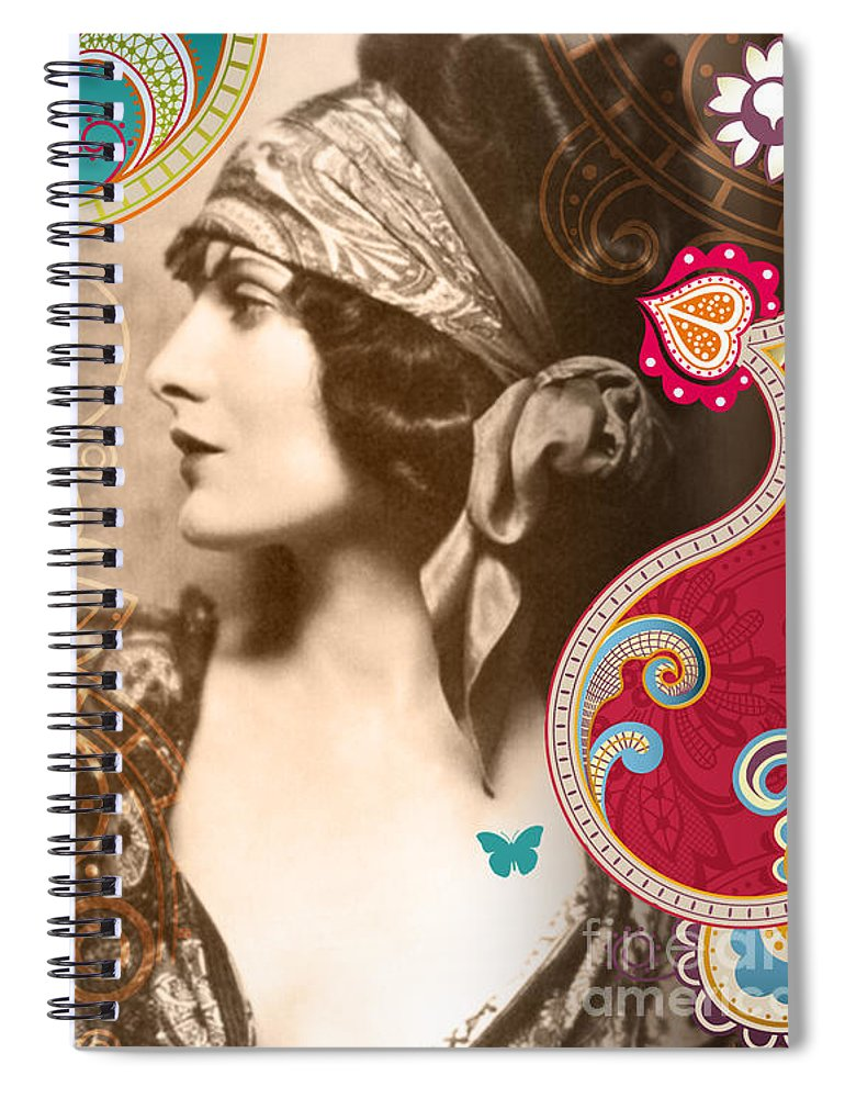 Nostalgic Seduction Spiral Notebook featuring the photograph Goddess by Chris Andruskiewicz
