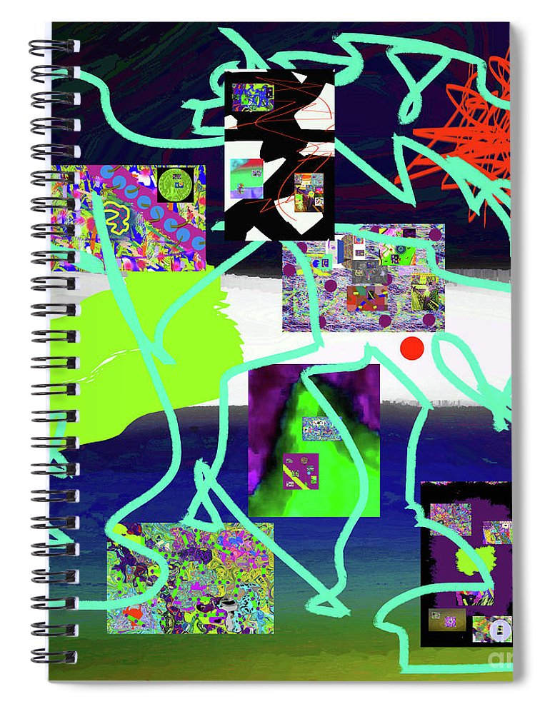 Walter Paul Bebirian Spiral Notebook featuring the digital art 9-18-2015babcdefghijklmnopqrtuvwx by Walter Paul Bebirian