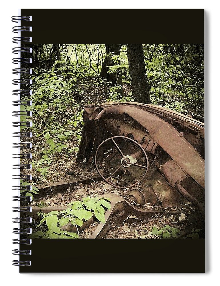Urban Decay Collection By Serge Averbukh Spiral Notebook featuring the photograph Abandoned 50s Classic.... by Serge Averbukh