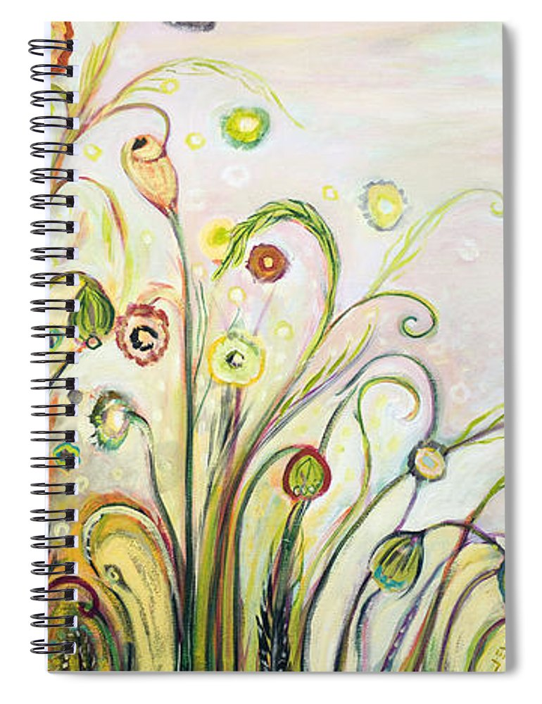 Landscape Spiral Notebook featuring the painting A Breath Of Fresh Air by Jennifer Lommers