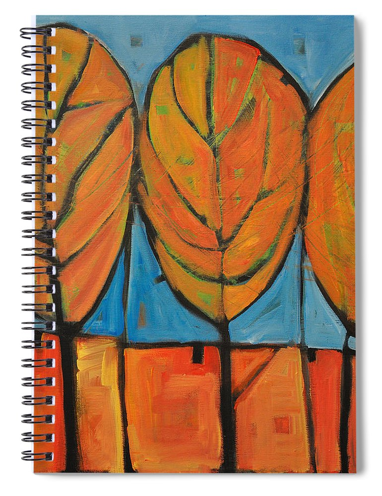 Fall Spiral Notebook featuring the painting A Change Of Seasons by Tim Nyberg