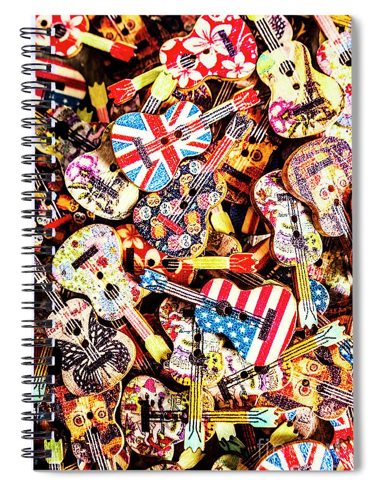 Guitar Spiral Notebook featuring the photograph A Colour Instrumental by Jorgo Photography - Wall Art Gallery