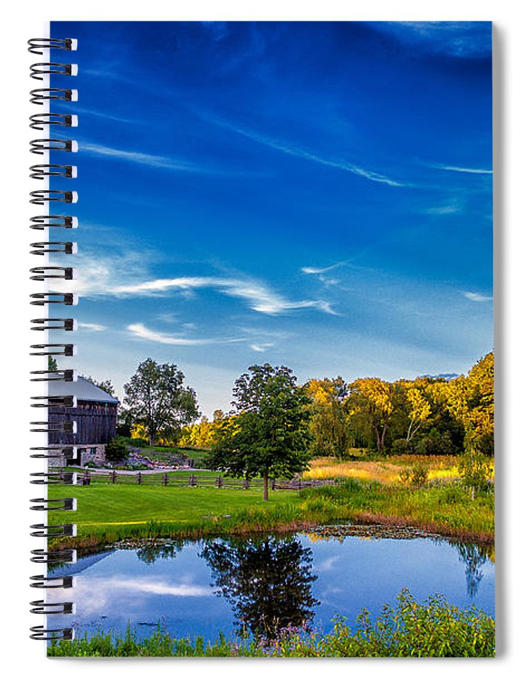 Pond Spiral Notebook featuring the photograph A Country Place by Steve Harrington