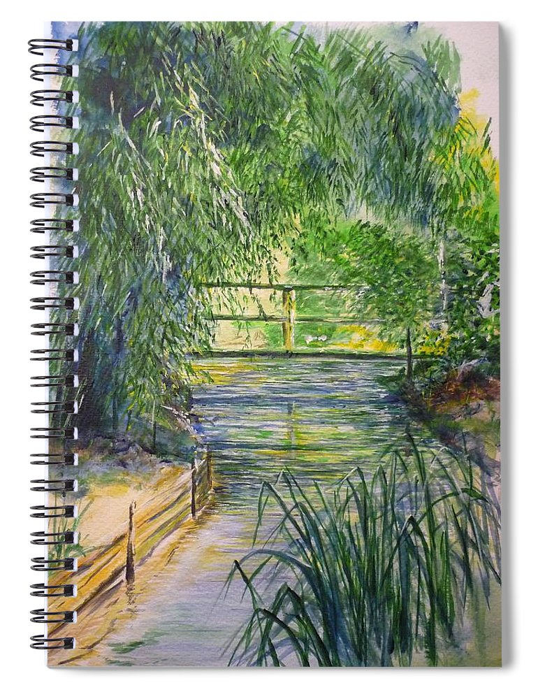 Giverny Spiral Notebook featuring the painting A Day At Giverny by Lizzy Forrester
