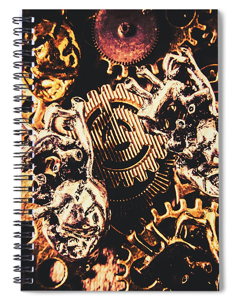 Steampunk Spiral Notebook featuring the photograph A Fiction In Machine Love by Jorgo Photography - Wall Art Gallery