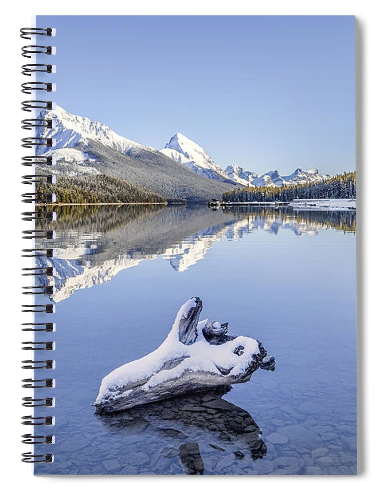Kremsdorf Spiral Notebook featuring the photograph A Kiss Of Winter by Evelina Kremsdorf