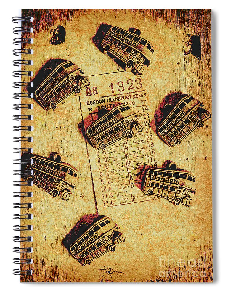 Bus Spiral Notebook featuring the photograph A Return To Old London by Jorgo Photography - Wall Art Gallery