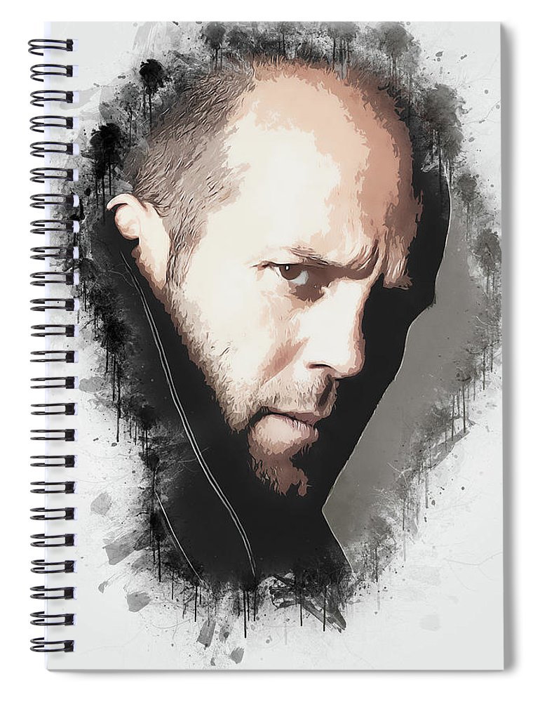 Movies Spiral Notebook featuring the digital art A Tribute to JASON STATHAM by Dusan Naumovski