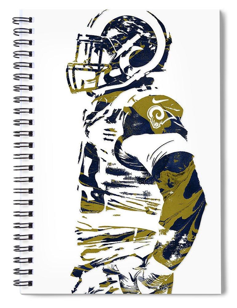 863c879d Aaron Donald Los Angeles Rams Pixel Art 2 Spiral Notebook