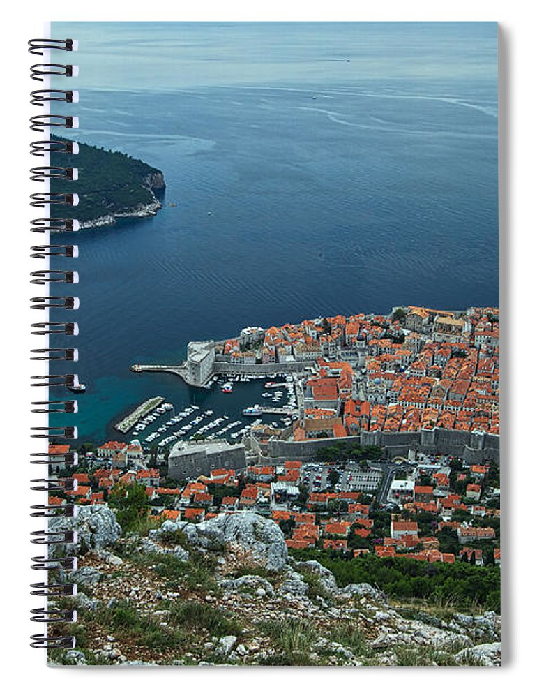 Dubrovnik Spiral Notebook featuring the photograph Above Dubrovnik - Croatia by Stuart Litoff