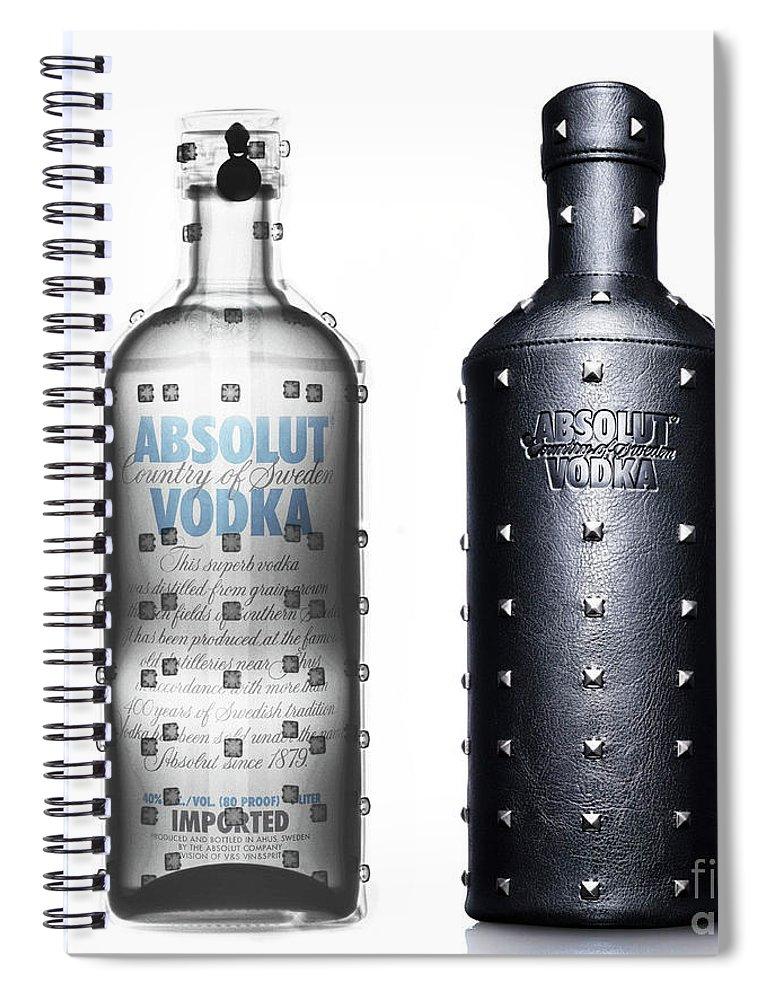 Absolut Vodka Under X-ray Spiral Notebook