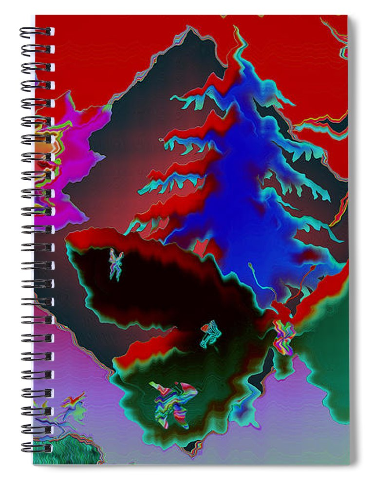 Abstract Spiral Notebook featuring the photograph Absract by Donna Brown
