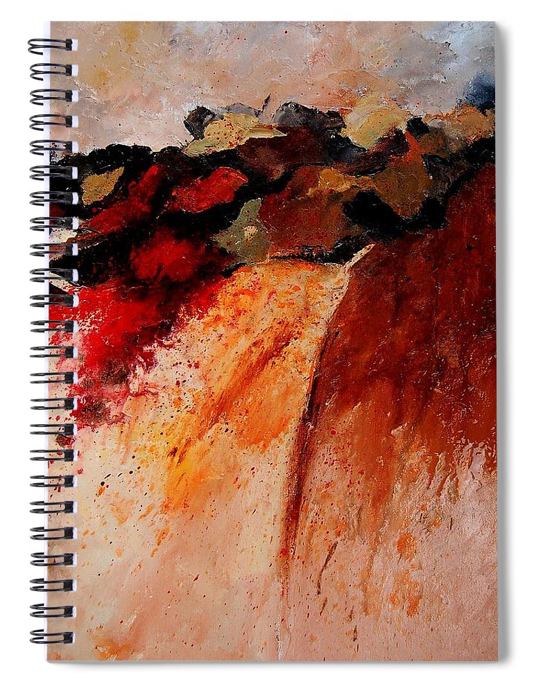 Abstract Spiral Notebook featuring the painting Abstract 010607 by Pol Ledent