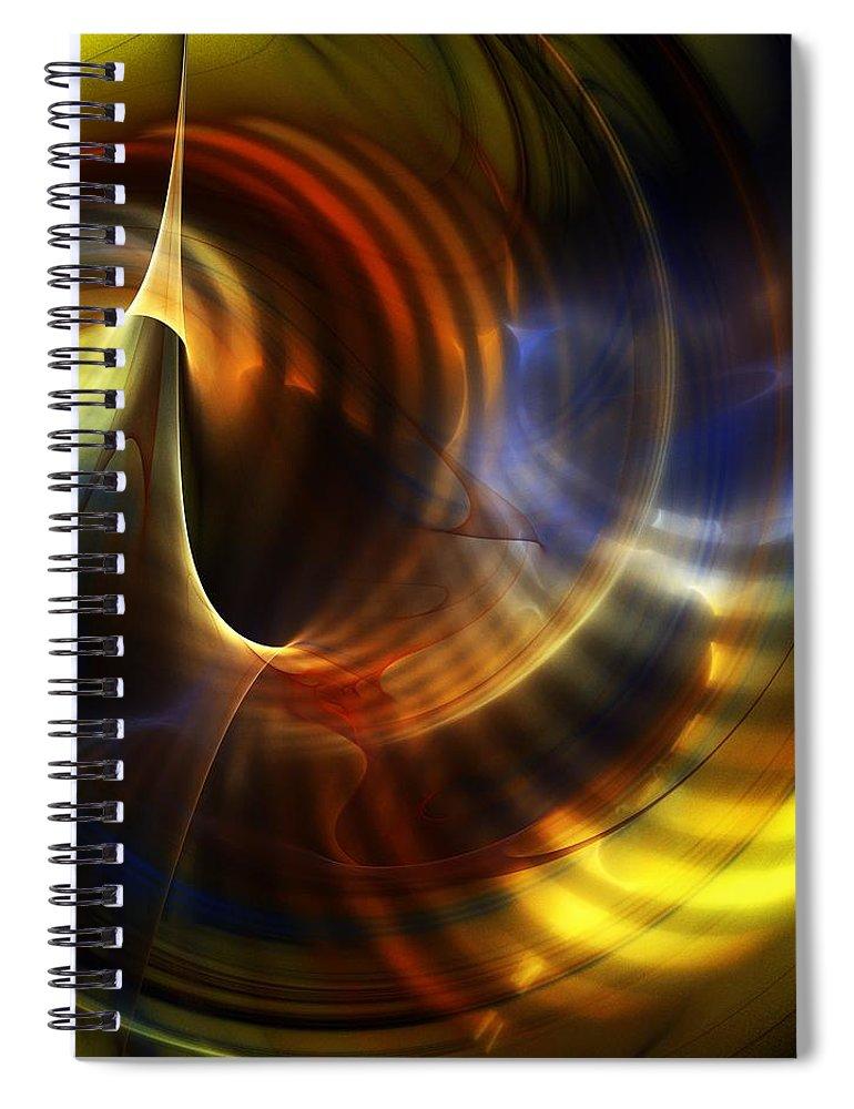 Fine Art Spiral Notebook featuring the digital art Abstract 040511 by David Lane