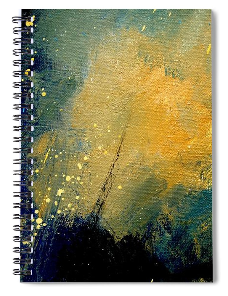 Abstract Spiral Notebook featuring the painting Abstract 061 by Pol Ledent