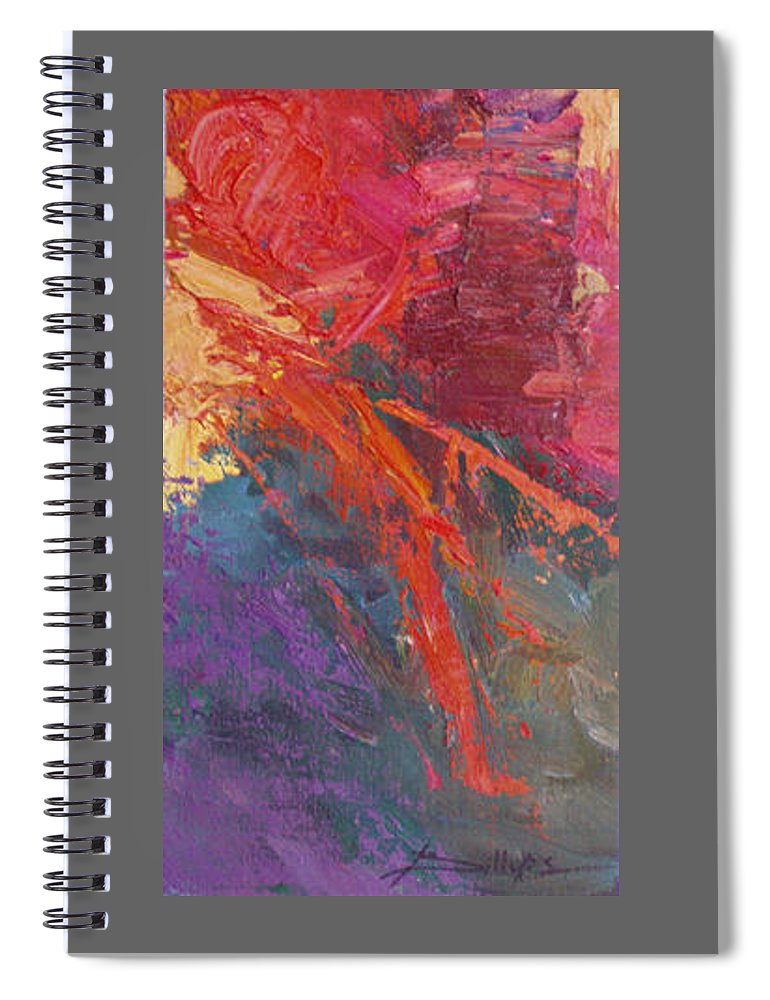 Abstract Spiral Notebook featuring the painting Abstract 103A by Betty Jean Billups