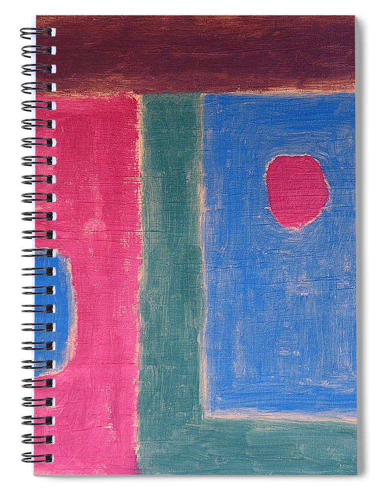 Abstract Spiral Notebook featuring the painting Abstract 109 by Patrick J Murphy