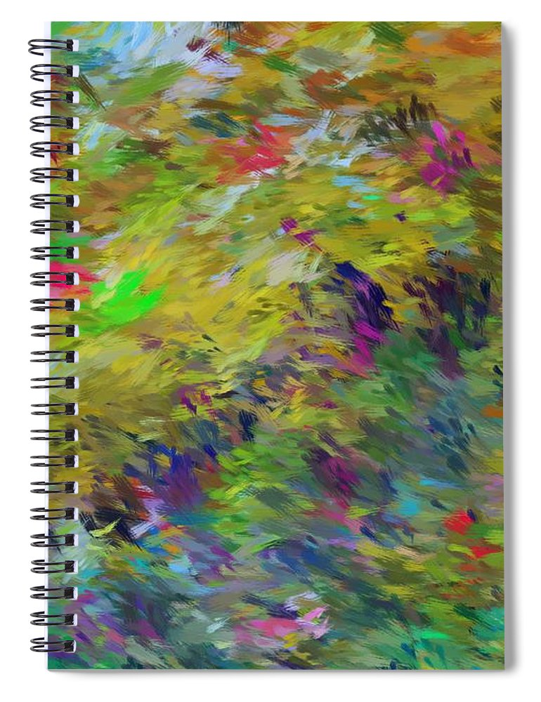Abstract Spiral Notebook featuring the digital art Abstract 111510 by David Lane