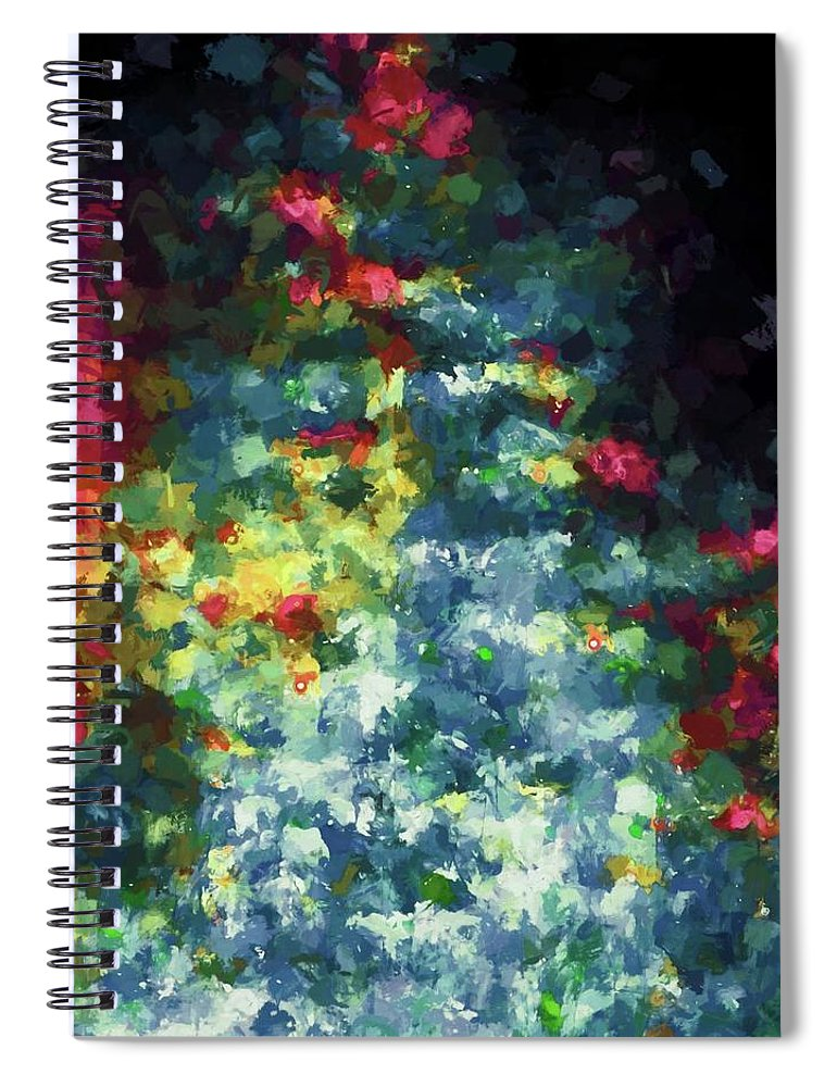 Abstract Spiral Notebook featuring the photograph Abstract 124 by Pamela Cooper