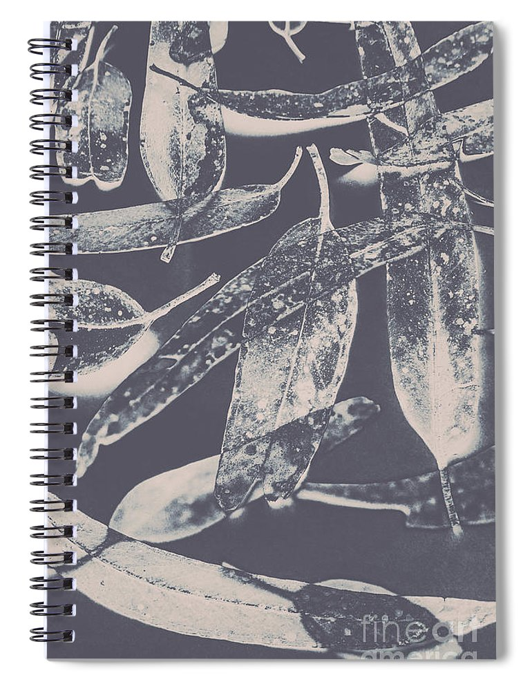 Gum Spiral Notebook featuring the photograph Abstract Design Tree Leaves Background by Jorgo Photography - Wall Art Gallery