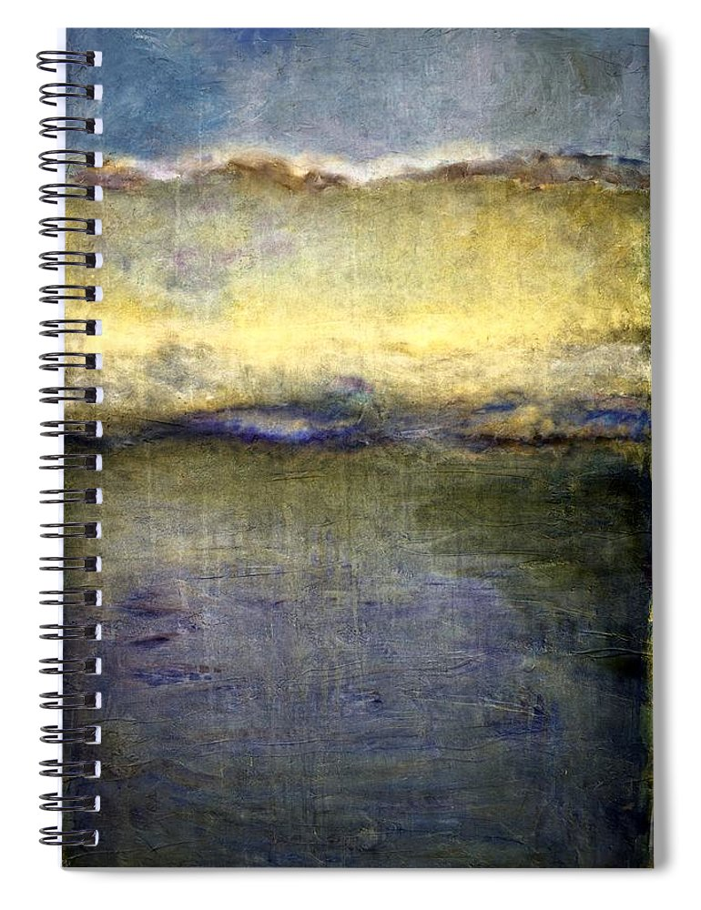 Oceanside Spiral Notebook featuring the painting Abstract Dunes 3.0 by Michelle Calkins