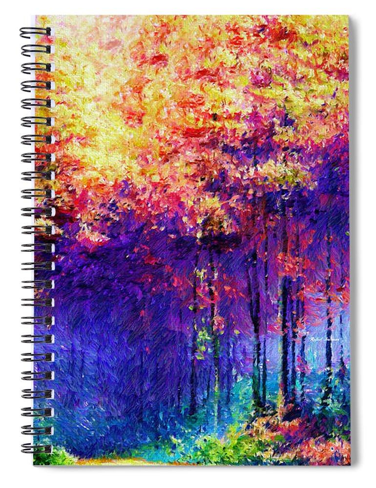 Rafael Salazar Spiral Notebook featuring the digital art Abstract Landscape 0830a by Rafael Salazar