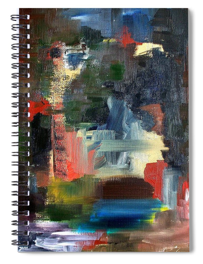 Art Spiral Notebook featuring the painting Abstract Landscape by RB McGrath