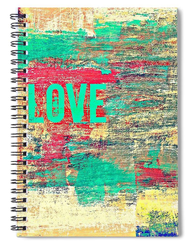 Brandi Fitzgerald Spiral Notebook featuring the digital art Abstract Love V2 by Brandi Fitzgerald