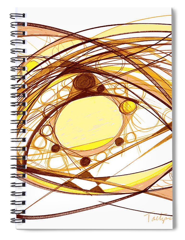 Abstract Art Spiral Notebook featuring the drawing Abstract Pen Drawing Eleven by Lynne Taetzsch